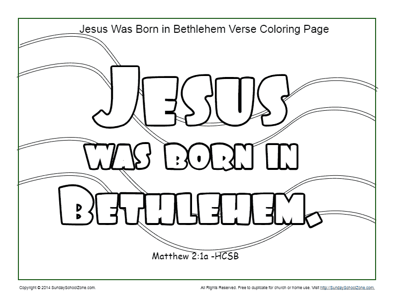 abfb2762836d2d80291893d314c24c9f » Jesus Born In Bethlehem Coloring Page