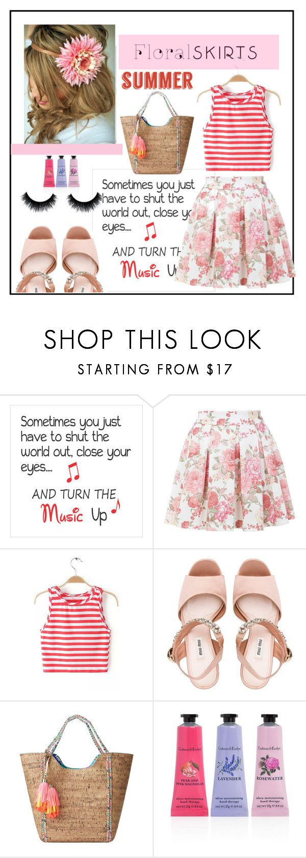 """""""lollipop"""" by aimbilal ❤ liked on Polyvore featuring Miss Selfridge, Miu Miu, Lilly Pulitzer, Crabtree & Evelyn and Floralskirts"""