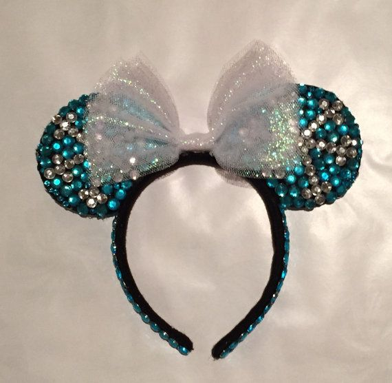 Frozen Inspired Minnie Ears by TaylorMadeOneofAKind on Etsy