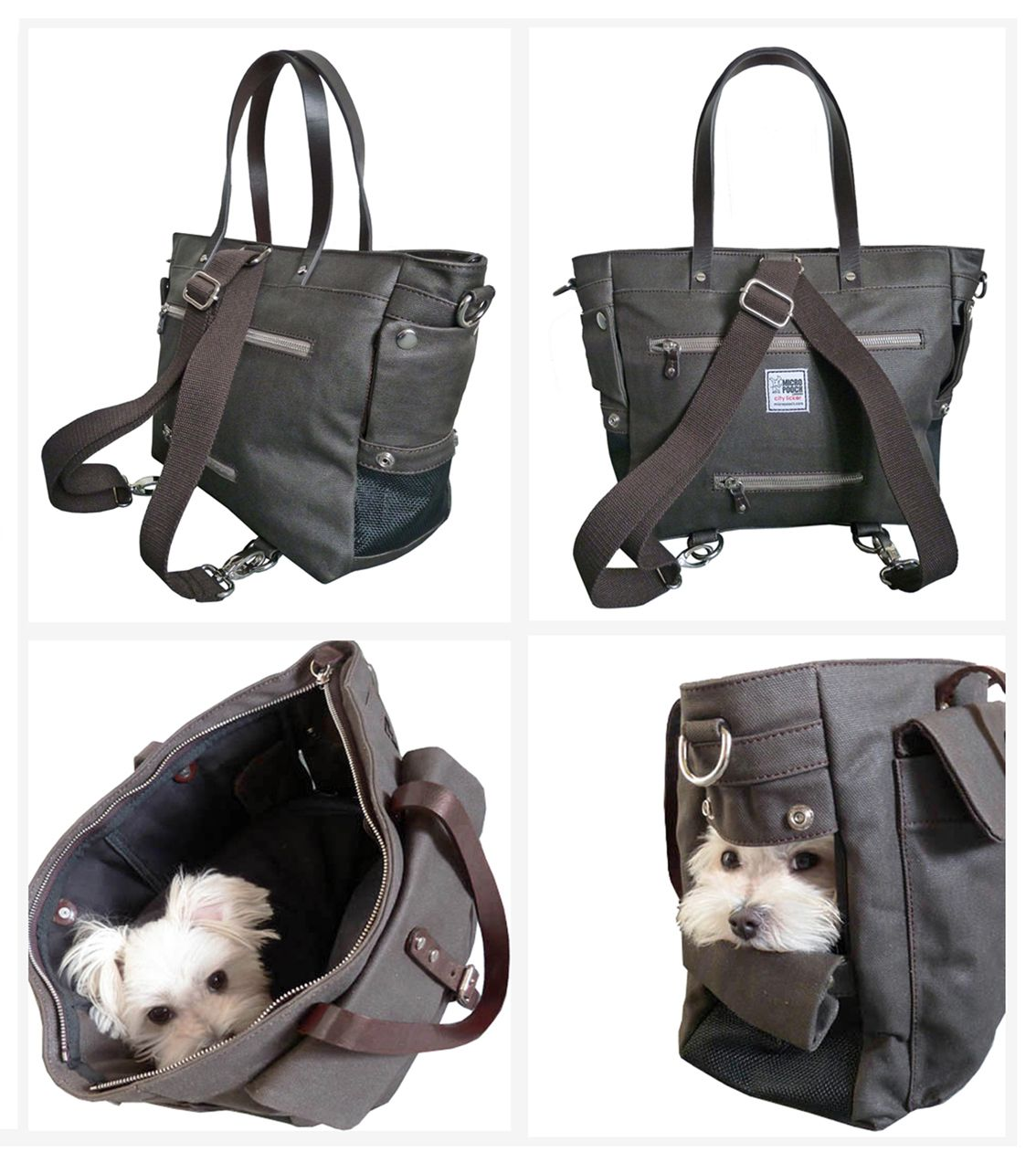 Dog Handbag By Micro Pooch Stylish City Pet Carrier Small