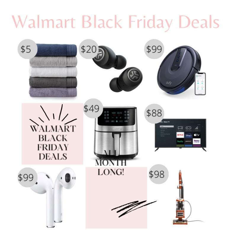 Walmart black friday deals started today and will last throughout the whole month! #blackfridaydeals #blackfriday #walmart #walmartblackfriday #salealert #dealsunder100