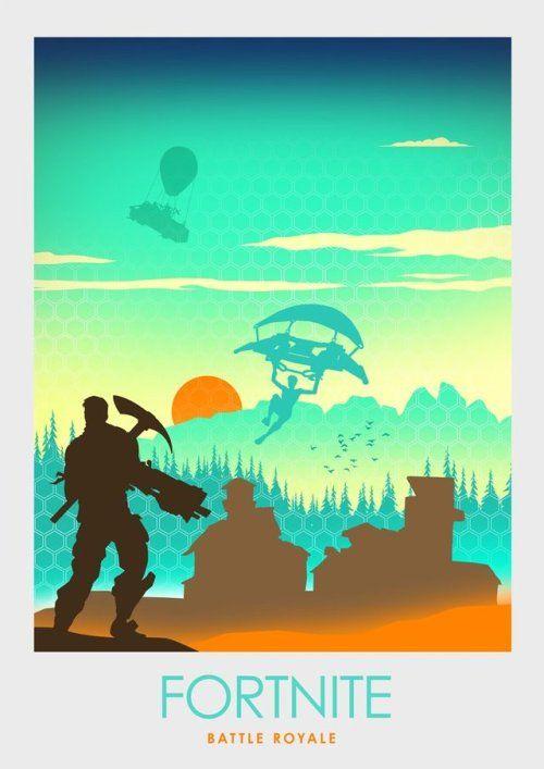 Minimalist Fortnite Poster Ciaran Monaghan Poster Art