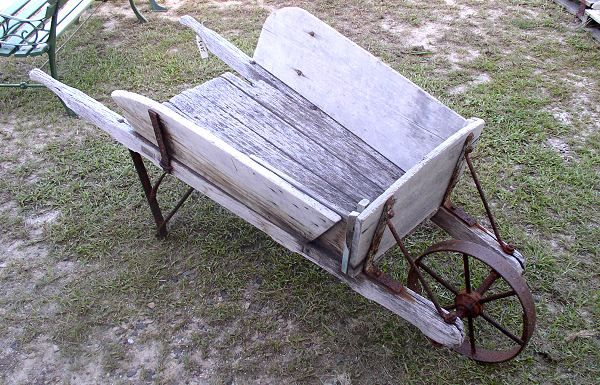 Vintage Wheelbarrows Antique Wooden Barrow From Clem S