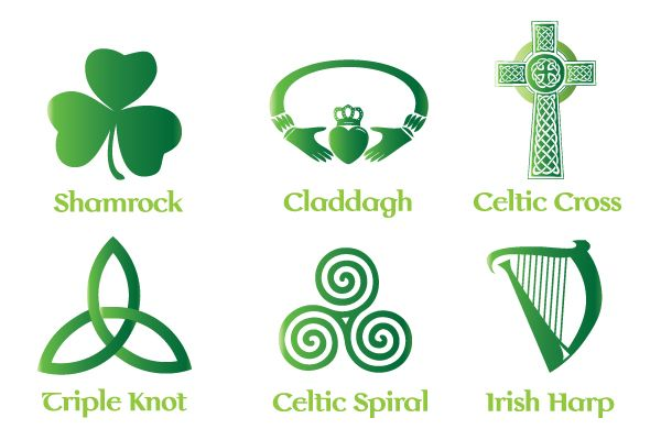 Celtic And Irish Vector Symbols And Illustration Classic Irish