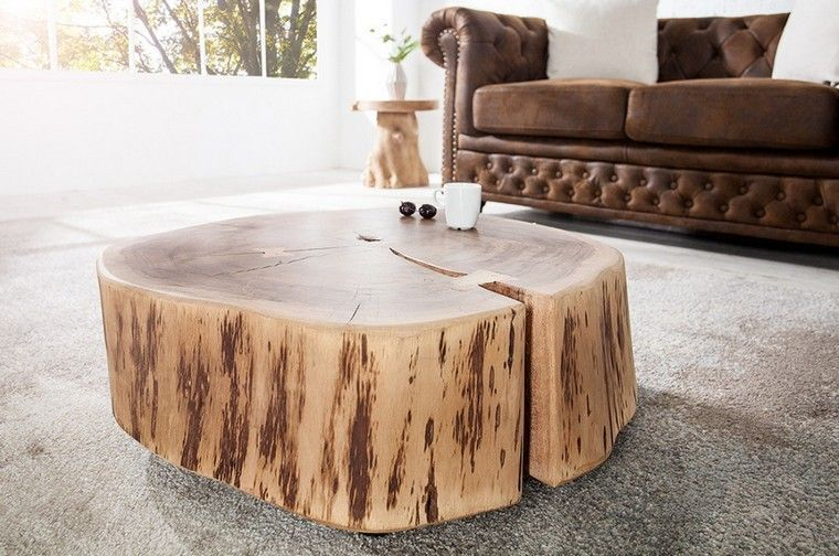 basse bois table exterieur basse rondin mobilierTable 2WIH9EYD