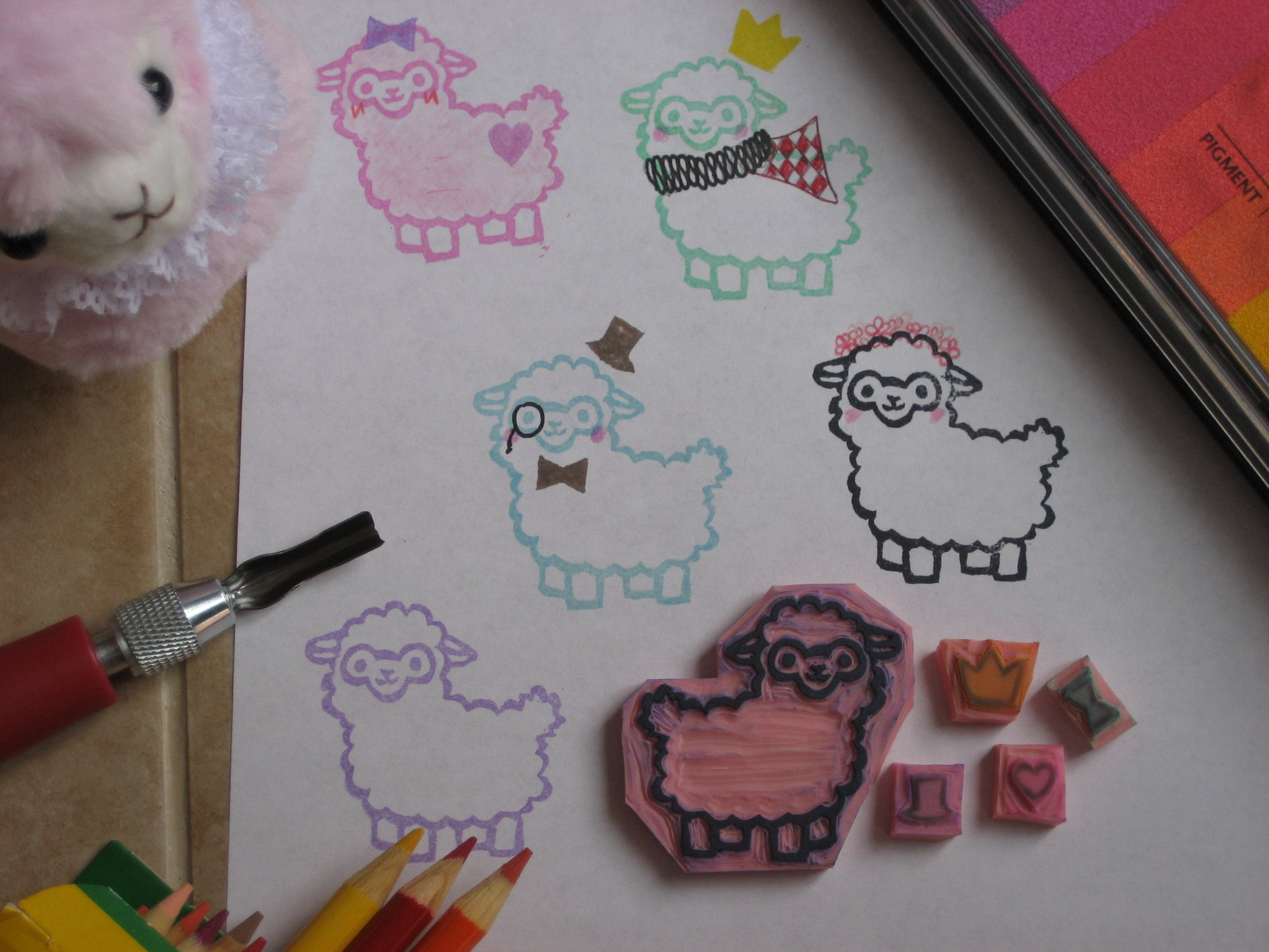 This listing is for 5 individual stamps 1 Alpaca, 1 crown