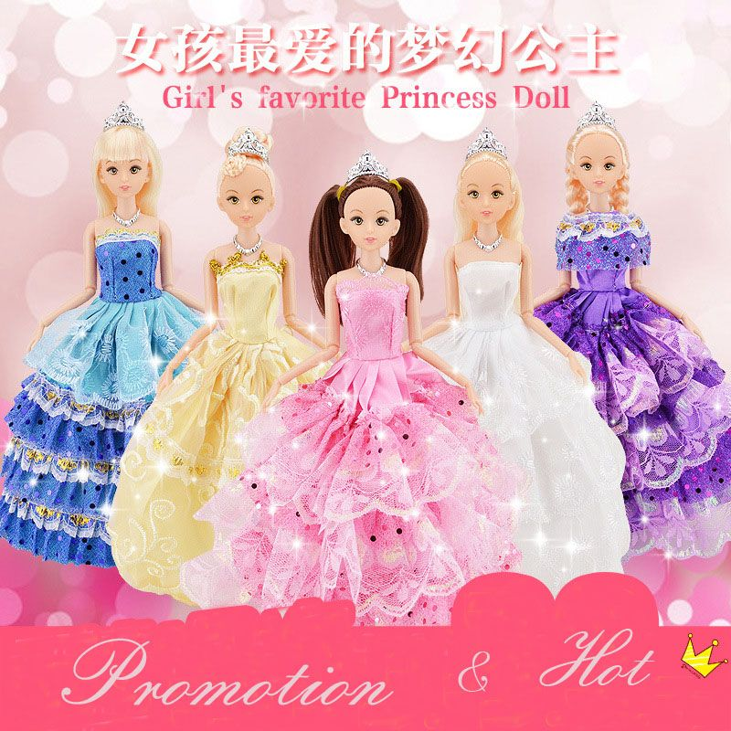 1 st Leuke Mooie Pop Speelgoed Beweegbare Joint Body Fashion Speelgoed Hoge Kwaliteit Meisjes Plastic Classic Beste Gift Figuur brinquedo 30 cm