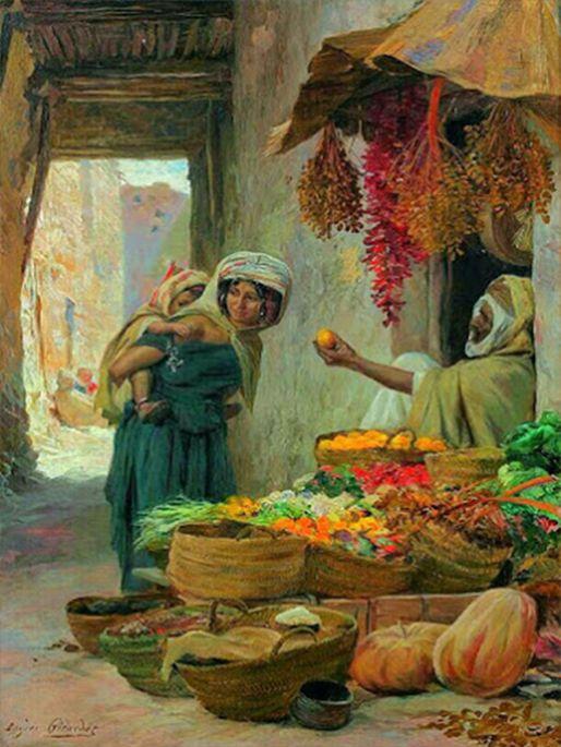 Peinture d 39 alg rie peintre fran ais eugene alexis for Peinture satinee algerie