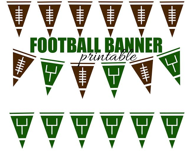 Football Pennant Banner {Free Printable Football Themed Party