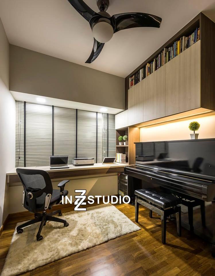 Condominium Study Room: Trevista, Modern Condominium Interior Design, Study Room