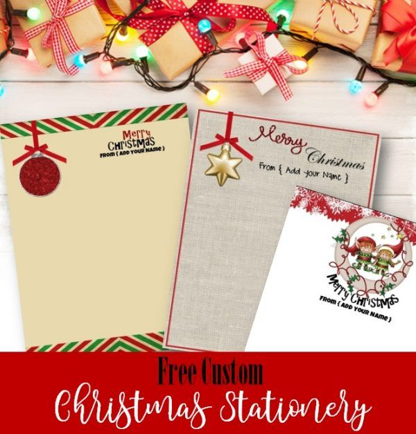 free christmas stationery templates that you can customize with your name before you print many designs available you can make one from the famil - Free Christmas Stationery Templates