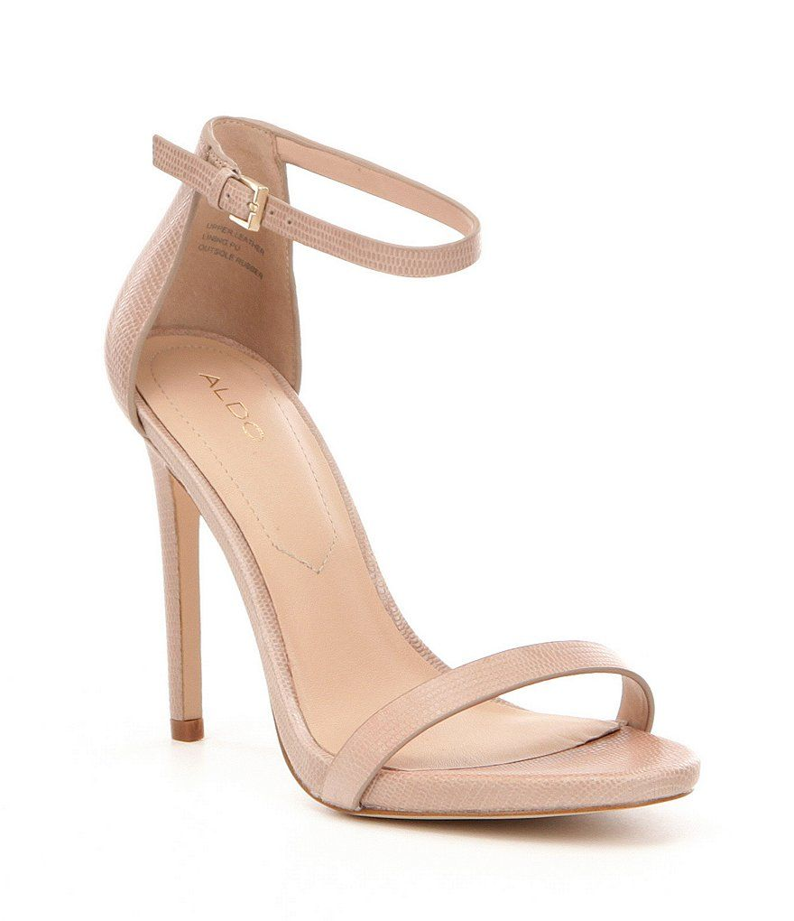 a6fbae392a159 Bone:ALDO Caraa Ankle-Strap Leather Dress Sandals | Shoes in 2019 ...