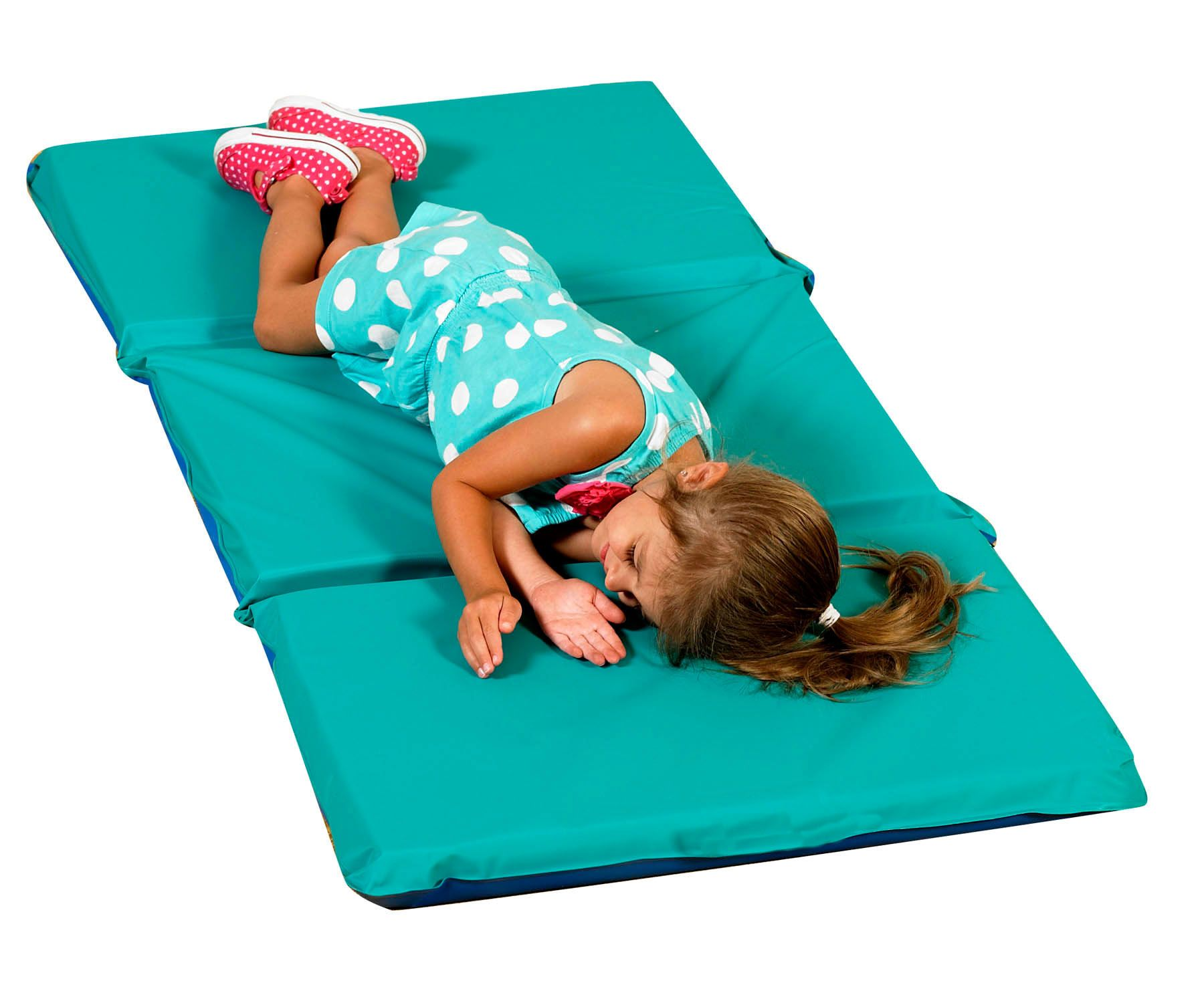 """2"""" Infection Control® Folding Mat Teal/Blue 5 Pack"""