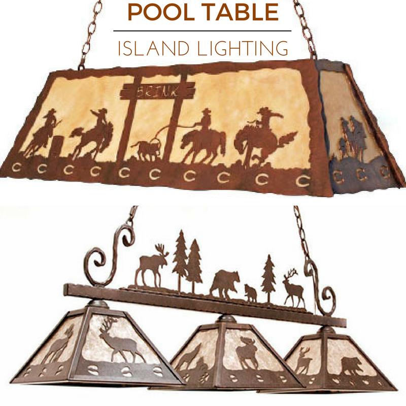 Rustic Pool Table And Island Lighting Rusticlighting Rustic Pool Table Lights Pool Table Pool Table Lighting