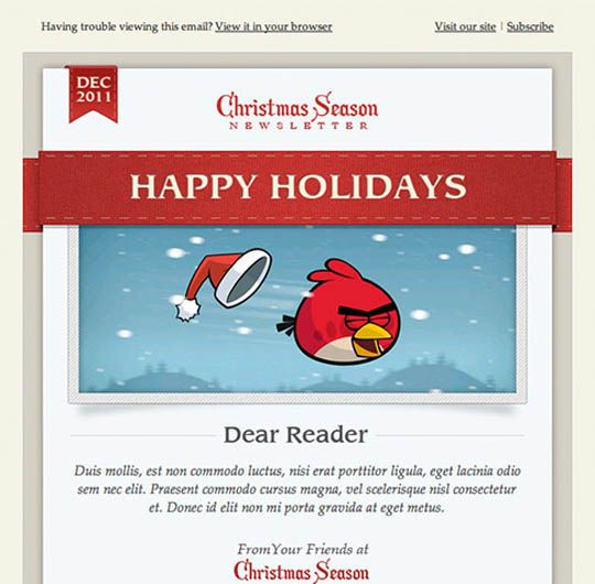 17 Beautifully Designed Christmas Email Templates for ...