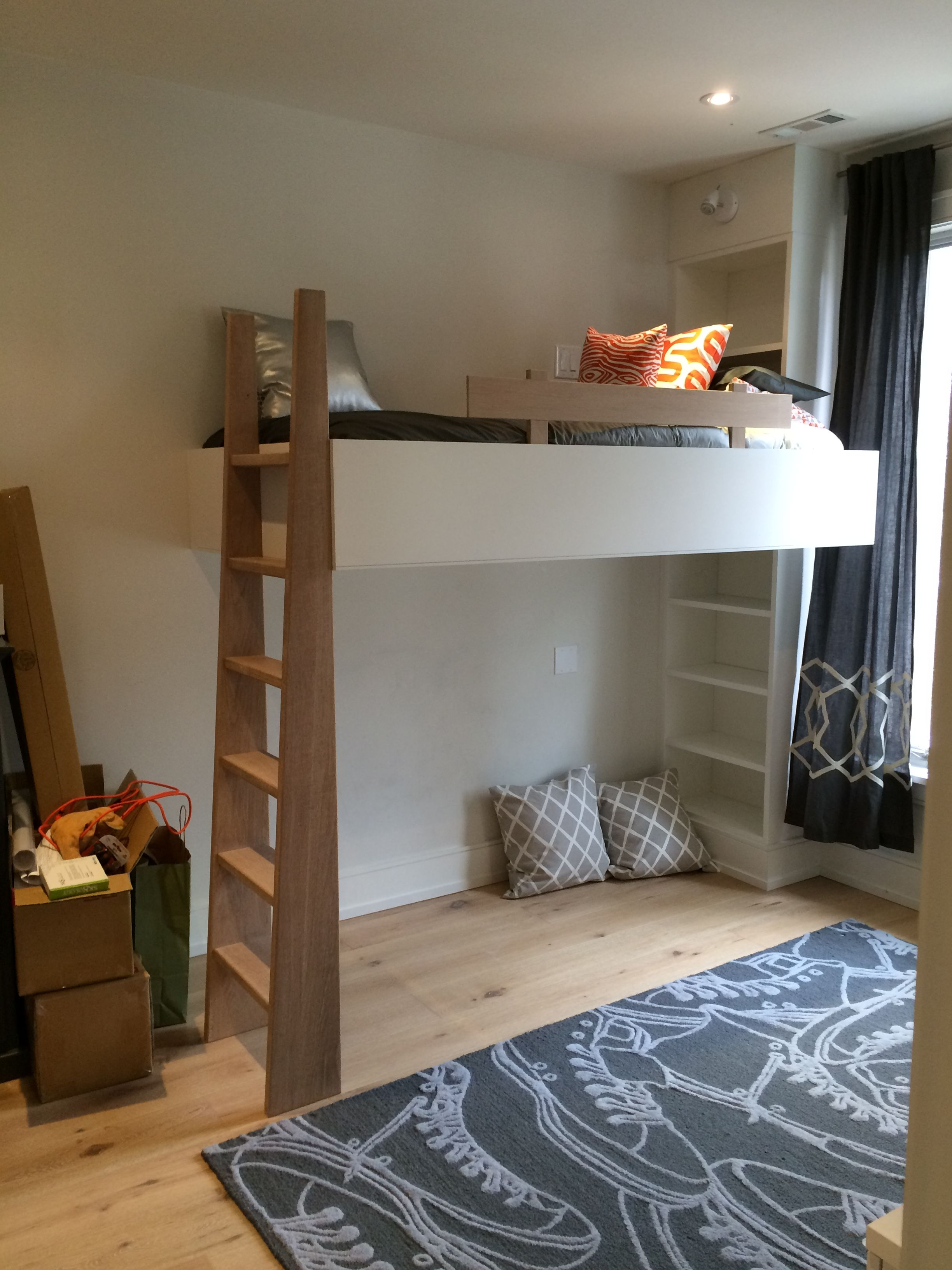 Suspended bed … (With images) Shared girls room