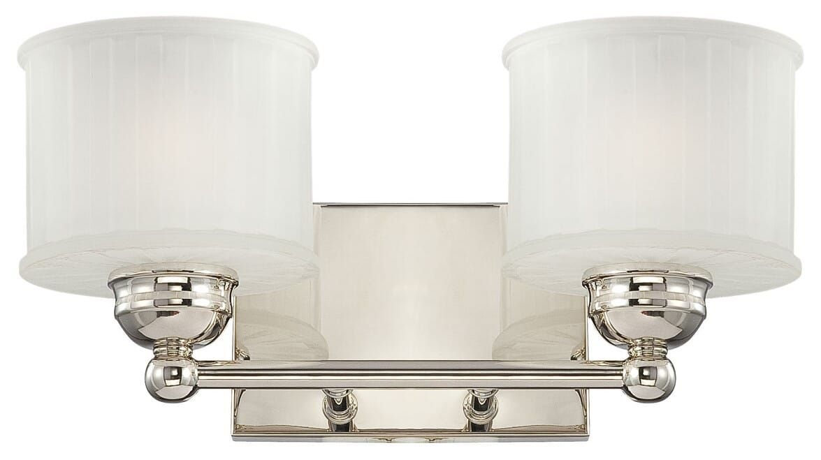 Photo of Minka Lavery 1730 Series 2-Light 15″ Bathroom Vanity Light in Polished Nickel