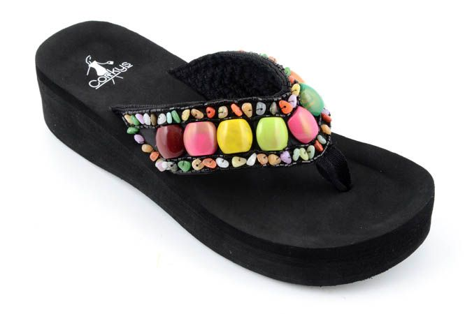 907b18815602f8 Rio. Colorful beaded Flip Flop - Corky s