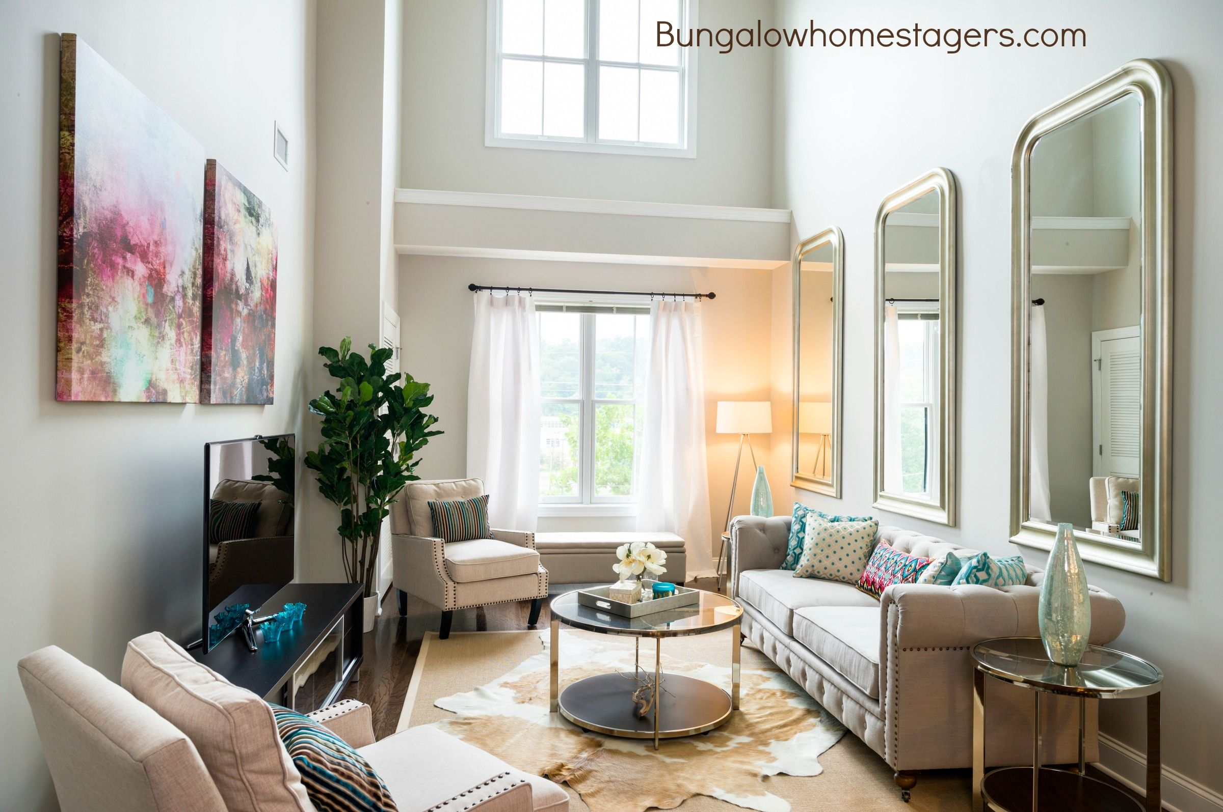 Living Room designed by Bungalow Home Staging & Redesign at The ...