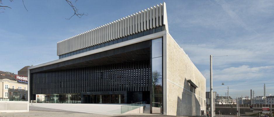 The new opera house in Linz http://www.economist.com/blogs/prospero/2013/04/linz%E2%80%99s-new-opera-house