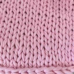 Photo of Chunky Knit Kuscheldecke Juna, vegan rosa 80x130cmDesiary.de