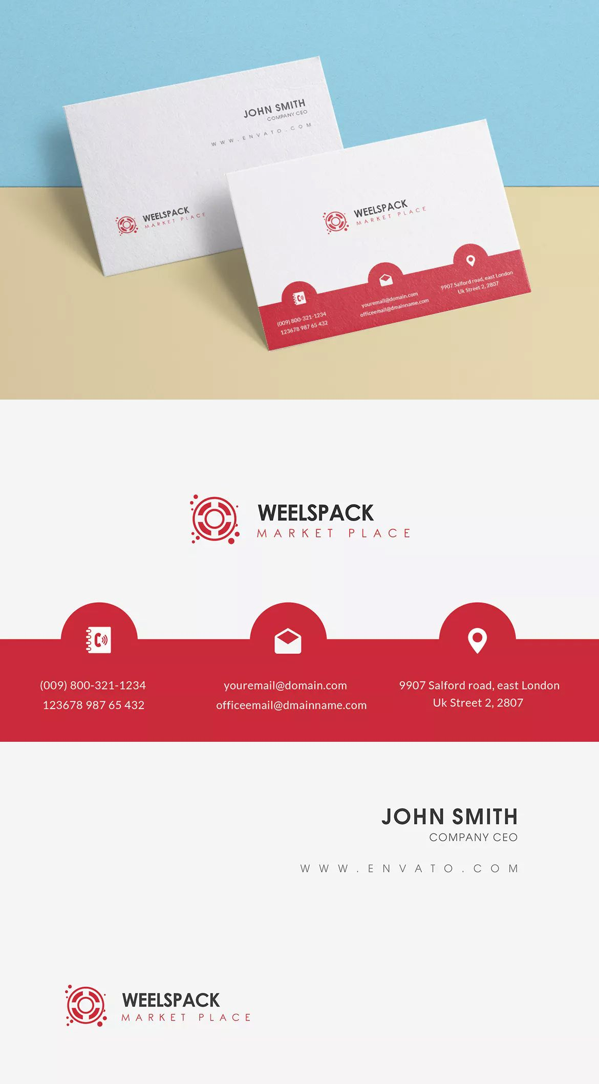 Weelspack business card template psd business card templates weelspack business card template psd reheart Gallery