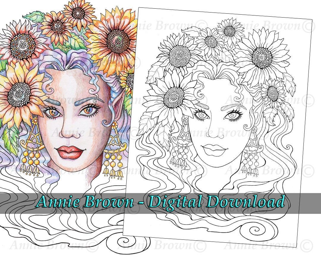 Pin On Mythical Maidens Coloring Book By Annie Brown
