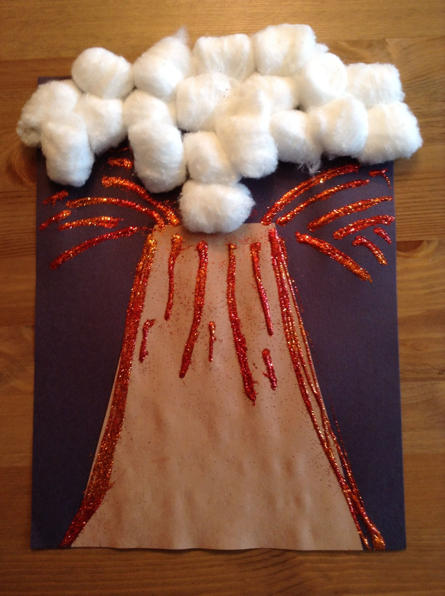 V is for Volcano Craft - Preschool Craft - Letter of the Week Craft - Kids