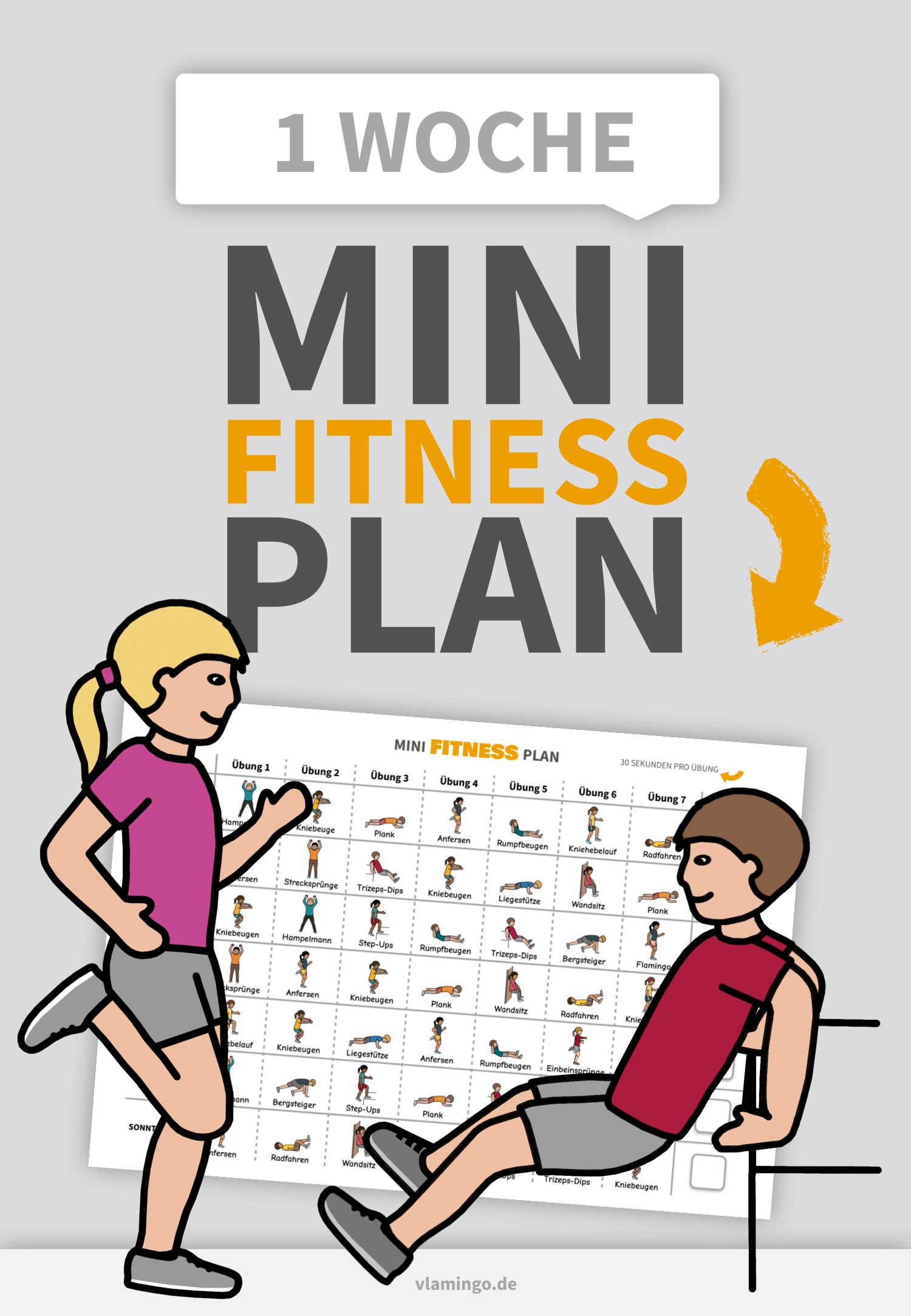 Photo of Mini-Fitness-Plan für 1 Woche (Workouts für Kinder)