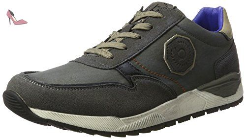 K420636, Sneakers Basses Homme, Bleu (Blau 400), 43 EUBugatti