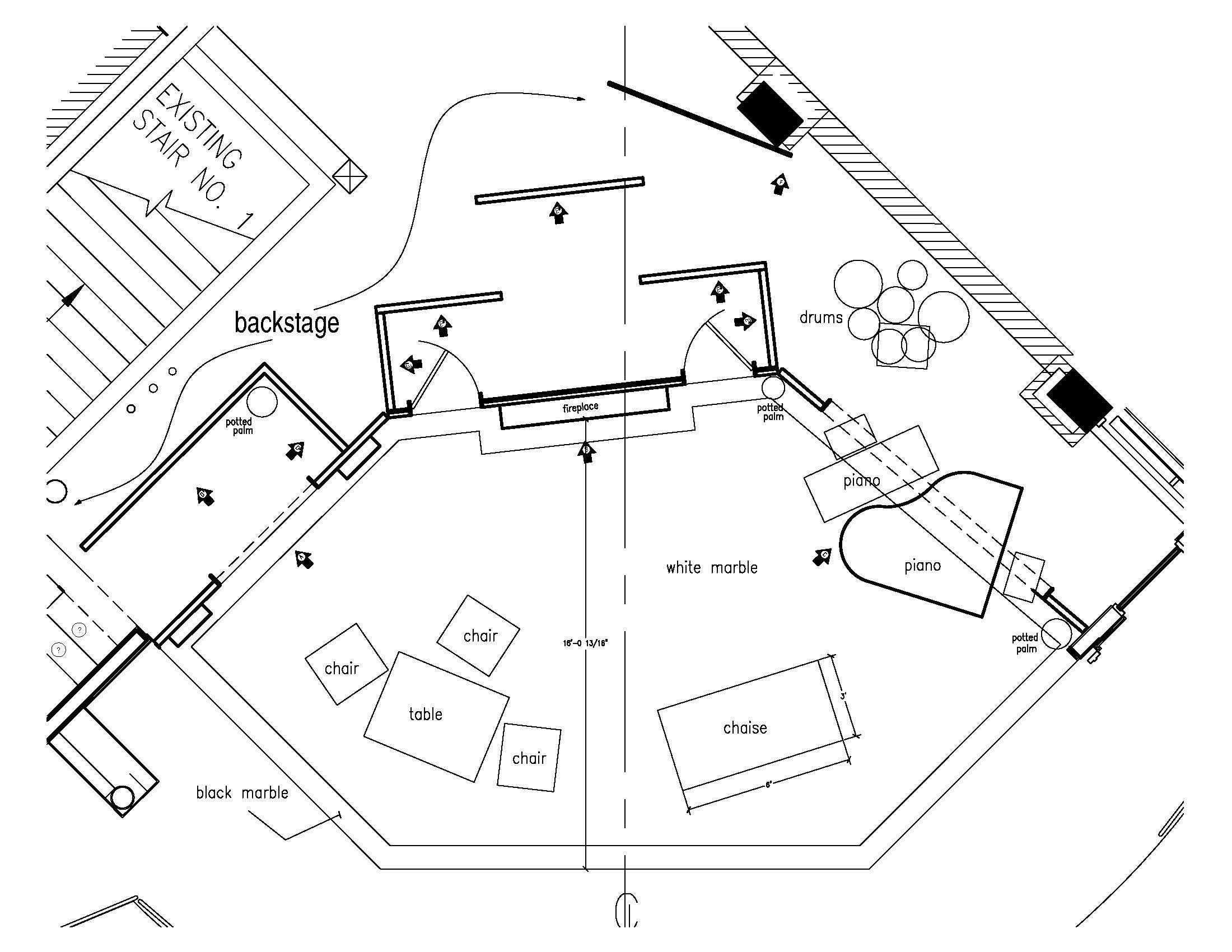 Scenic Ground Plan William Elliot Animal Crackers Scenic Designer Scenic Design Animal Crackers Design