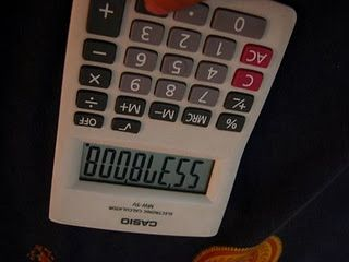 """Writing """"Bad Words"""" with calculators"""