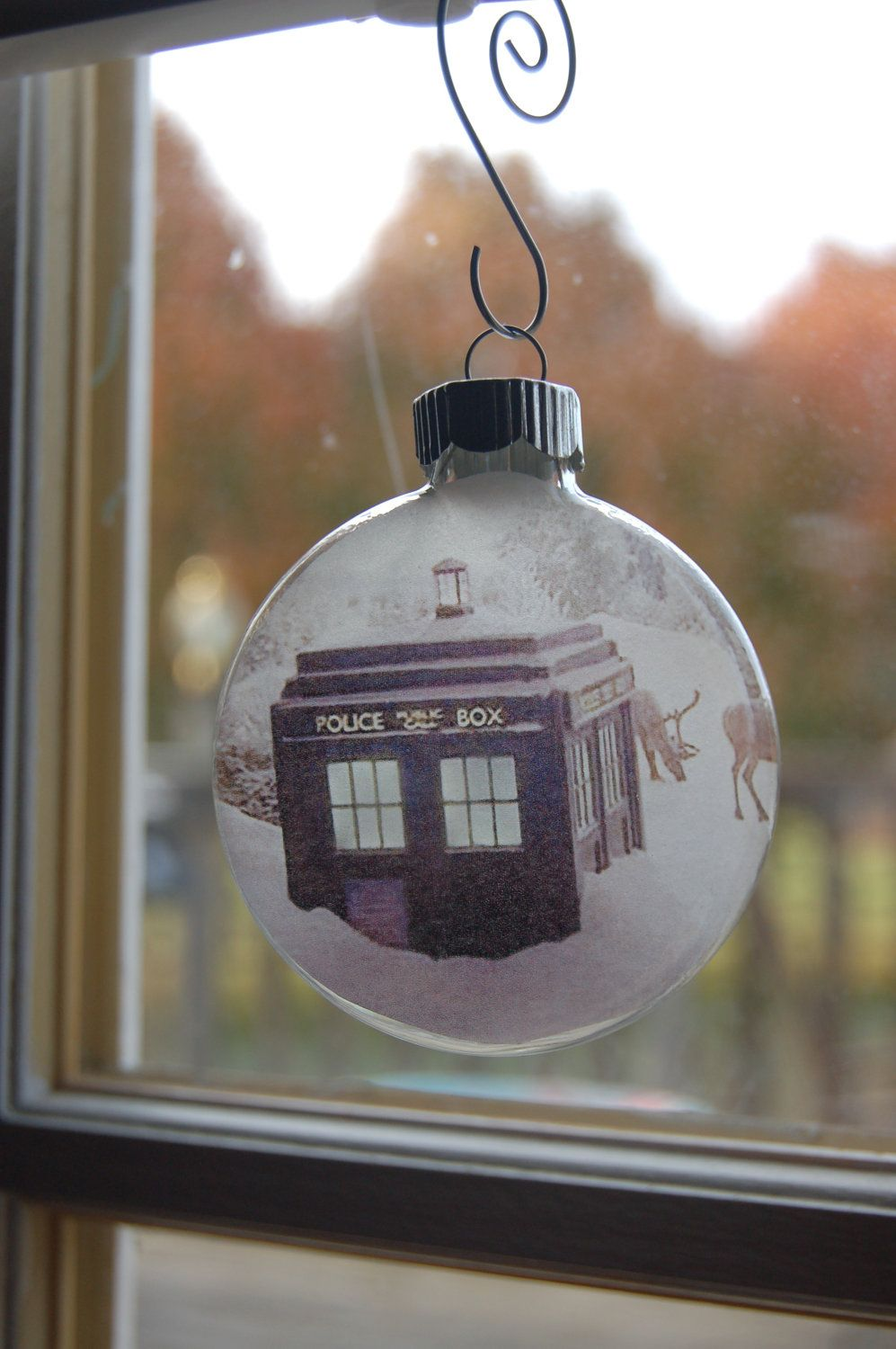 Glass Christmas Ornament - Set of 4 Tardis and Dr Who ...