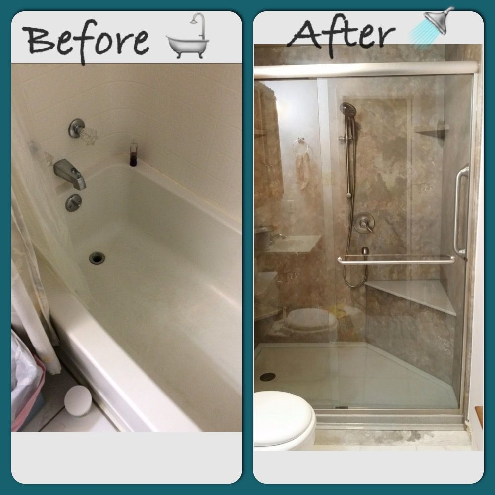 Photo Gallery For Photographers Onyx Custom shower base with bench seat and Rebath Desert Stone Wall System bathroom