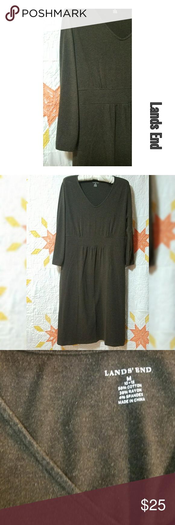 Landus end threequarter sleeve dark brown dress my posh picks