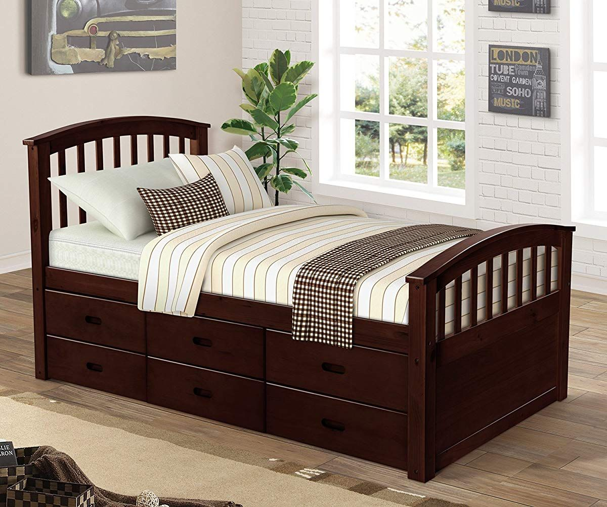 Merax. Twin Size Platform Storage Bed Solid Wood Bed with