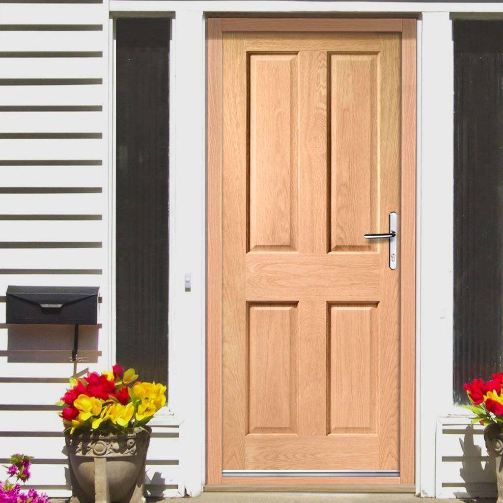 Colonial Exterior 4 Panel Oak Door External Panel Doors
