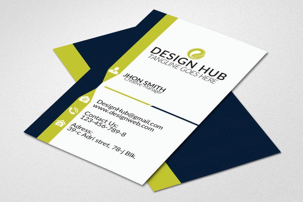 Attractive Vertical Business Card Vertical Business Cards Business Card Design Business Card Template Design