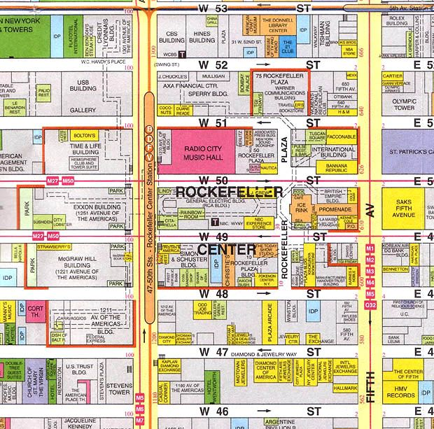 Map Of New York Rockefeller Center.City Of New York New York Map Rockefeller Center Map Maps