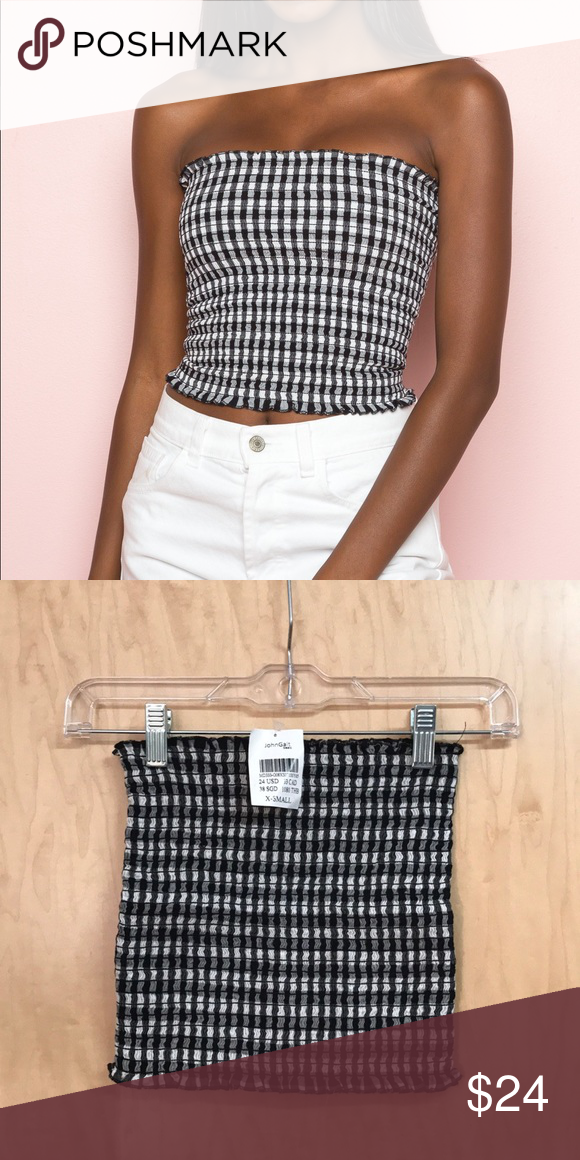 9763a06f61 Brandy Melville Cleo Tube Top A smocked