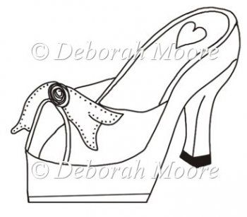 high heel paper shoe template