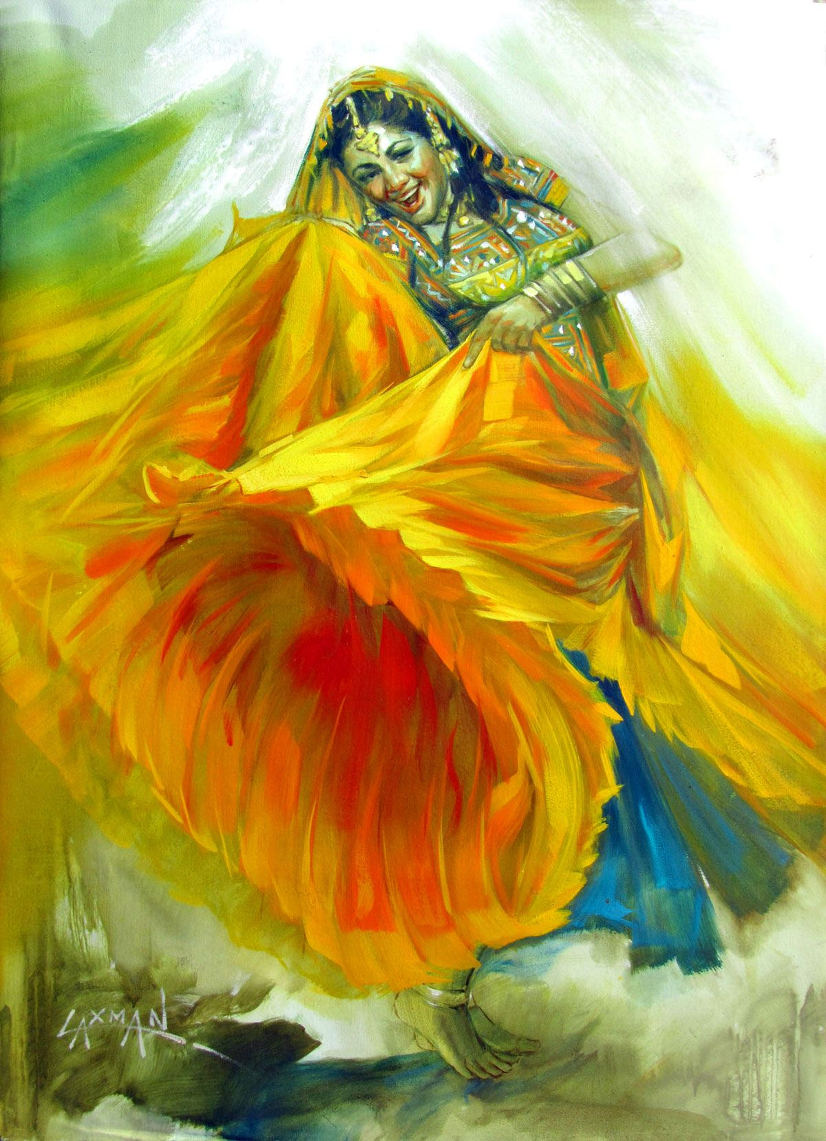 Laxman Kumar - Google Search   Art / Illustrations   Pinterest ... for Abstract Painting Of Indian Dancers  51ane