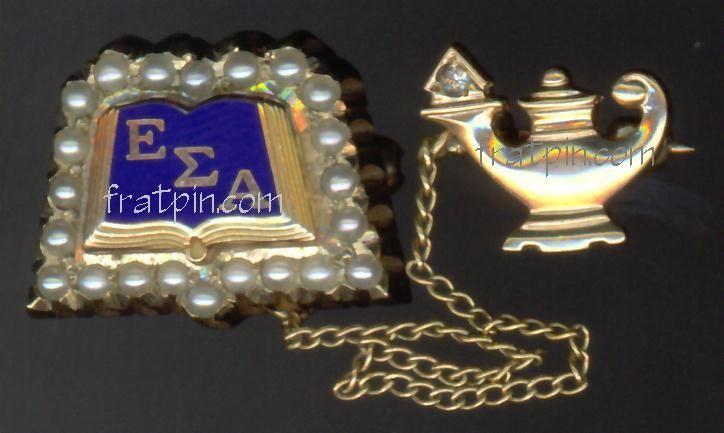 Open book and lamp ♥ | Epsilon Sigma Alpha | Alpha sigma