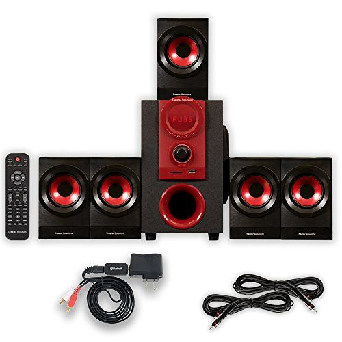 Theater Solutions TS521 Home 51 Speaker System with Bluetooth and 2 Extension Cables ** Learn more by visiting the image link.Note:It is affiliate link to Amazon.