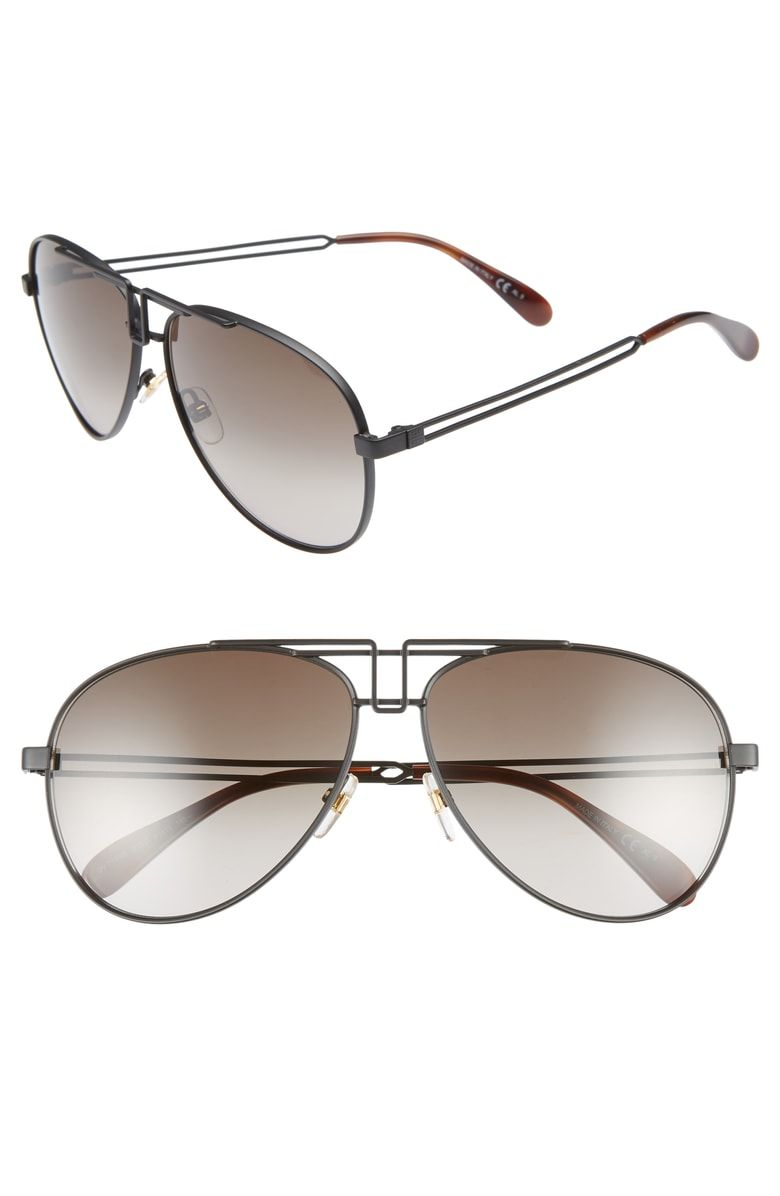 589e6db50d4 GIVENCHY 61MM AVIATOR SUNGLASSES - MATTE BLACK.  givenchy Mens Fashion
