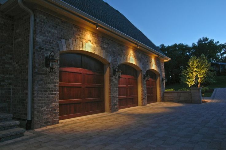 exterior accent lighting ideas | Garage Lighting | Outdoor