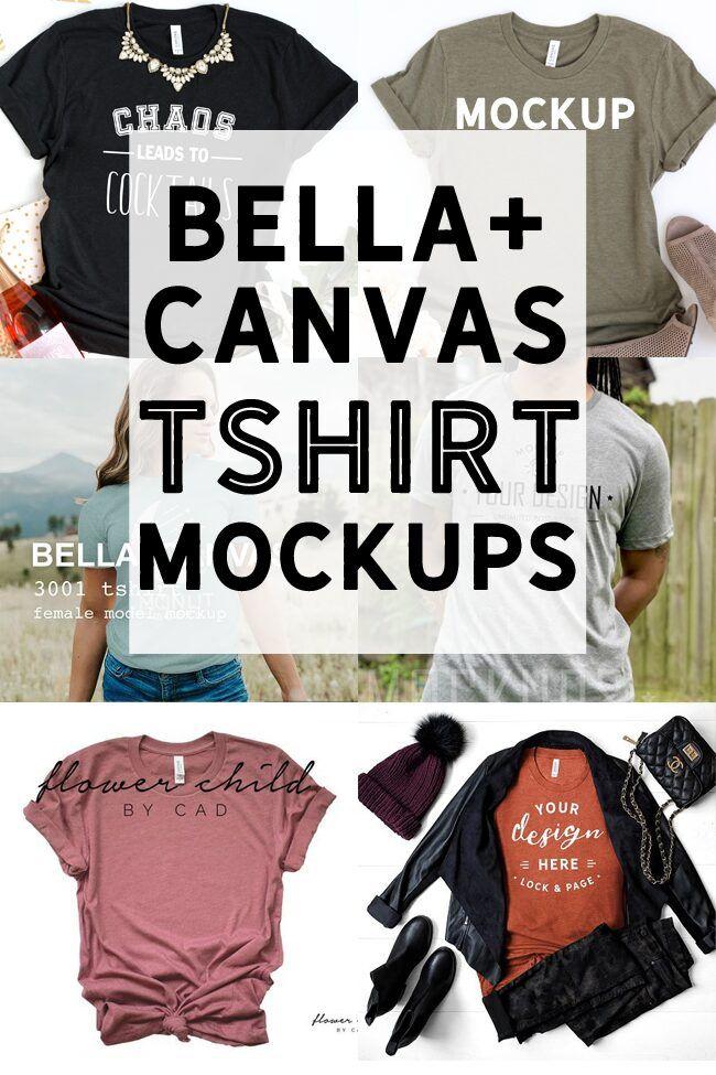 Bella Canvas TShirt Mockups - Tshirt Business Mockups
