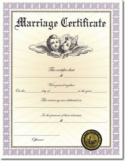 Custom Marriage Certificate II Certificate and Weddings - best of ordination certificate free