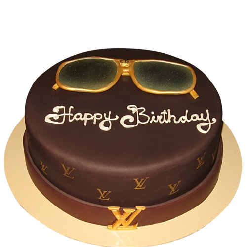 Excellent Round16 500X500 500500 With Images Louis Vuitton Cake Personalised Birthday Cards Sponlily Jamesorg