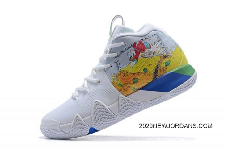 "2019 的 2020 Online Nike Kyrie 4 ""Donald Duck"" White Yellow 主题 ... a2f2d0d34"